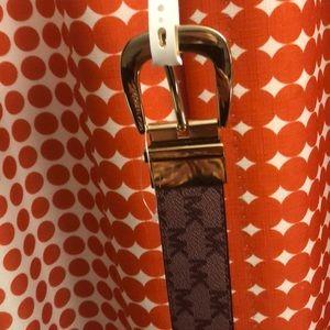 NWT Michael Kors oxbld/blk belt